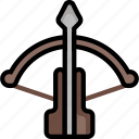 color, crossbow, ultra, weapon, weaponary, weaponry icon