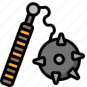 color, morning, star, ultra, weapon, weaponry icon