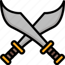 color, cross, swords, ultra, weapon, weaponry icon