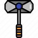 color, hammer, ultra, weapon, weaponry icon