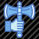 axe, battle, metal, war, weapon