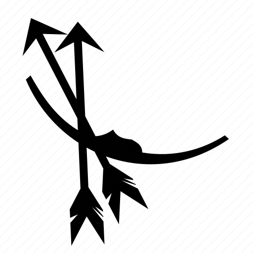 archery, arrows, bow, resting, sport, target icon