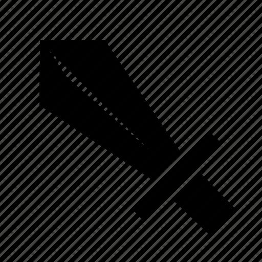 Cartoon Dagger Knife Soldier Stab Sword Icon