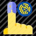 fingerprint, hand, login, security, tech