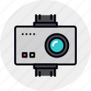 action, camera, digital, gopro, video icon
