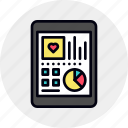 data, digital, health, healthcare, medical, mobile, monitoring icon