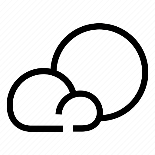 cloud, cloudy, partly, weather icon