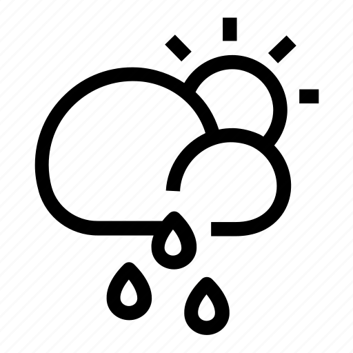 Cloudy, rainy, weather icon - Download on Iconfinder