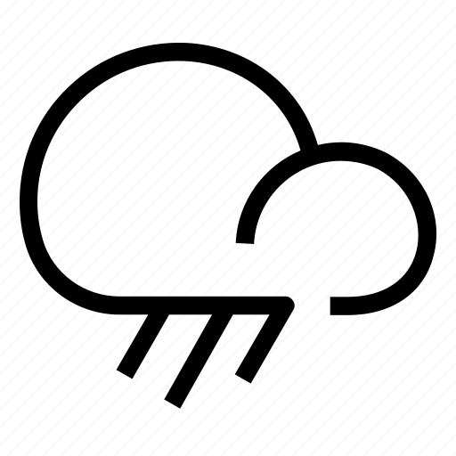forecast, heavy, rain icon