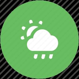 cloudy, raining, sunrise, sunset, weather, winter icon