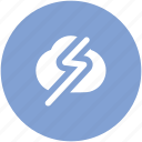 cloud thunder, cloudy weather, lightning, pressure, storm, thunder, thunderstorm icon