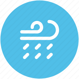 air element, astrological, astrology, rain storm, raining, wind, windy icon