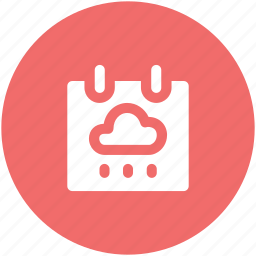 computing, date, planning, schedule, timetable, weather, weather calendar icon