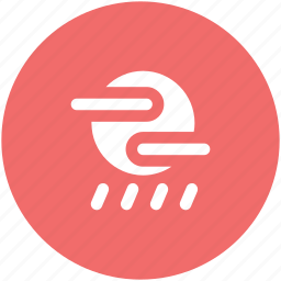 atmosphere, rain, raindrops, raining, sun, weather icon