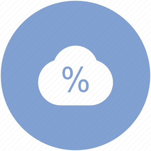 cloud, cloudy, forecast, lightning, percent, percentage, rate icon