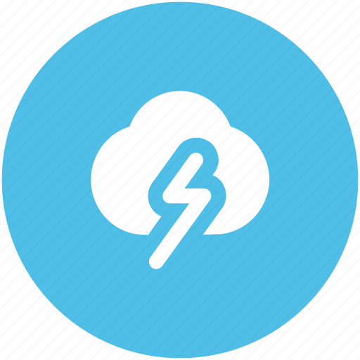 cloud thunder, cloudy weather, lightning, storm, thunder, thunderstorm icon