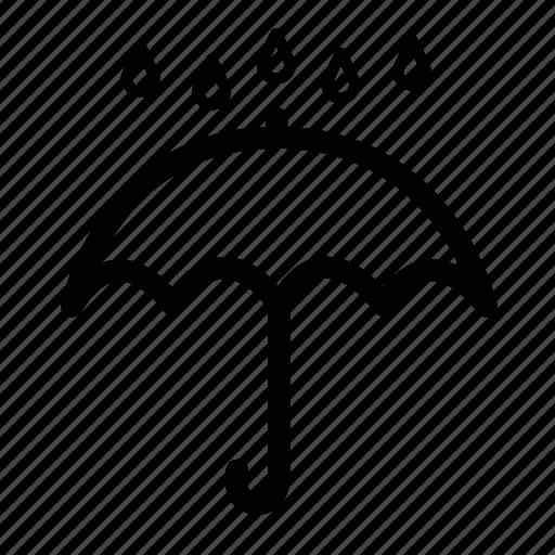 bad weather, climate, rain, temperature, umbrella, weather, weather rain icon