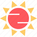 hot, summer, sun icon