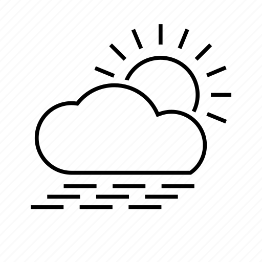 cloud, clouds, cloudy, day, fog, foggy, foggy day, forecast, mist, sun, sunny, weather icon