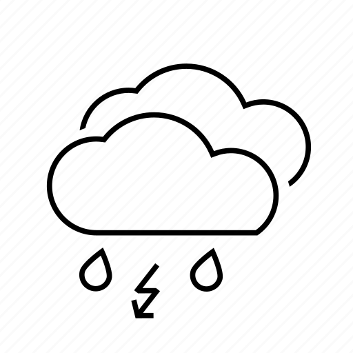 .svg, cloud, clouds, cloudy, forecast, lighting, lightning, rain, storm, weather, wet icon