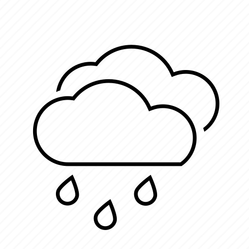 clouds, cloudy, rain, rainy, storm, wind icon