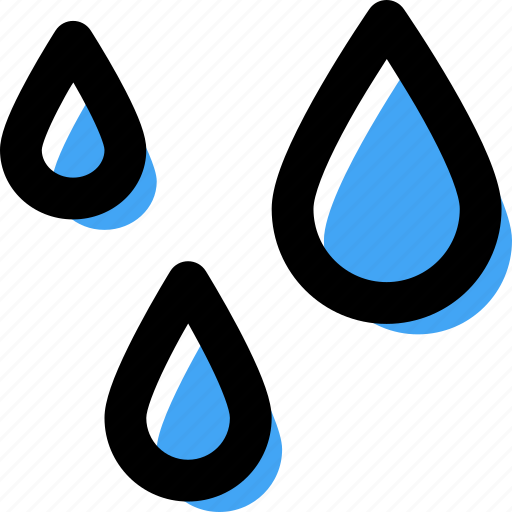 drip, forecast, rain, rain drops, water, weather icon