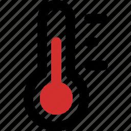 celsius, fahrenheit, mid, temperature, thermometer icon