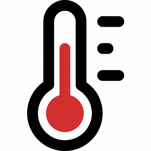 celsius, fahrenheit, mid, temperature, thermometer icon