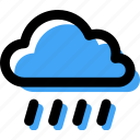 cloud, forecast, rain, rainy, storm, weather icon