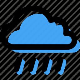 cloud, forecast, rain, rainy, storm, weather icon