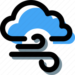 bad weather, cloud, weather, weather forecast, wind, windy icon