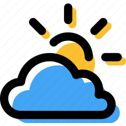 cloud, cloudy, day, forecast, partial sun, partly, weather icon