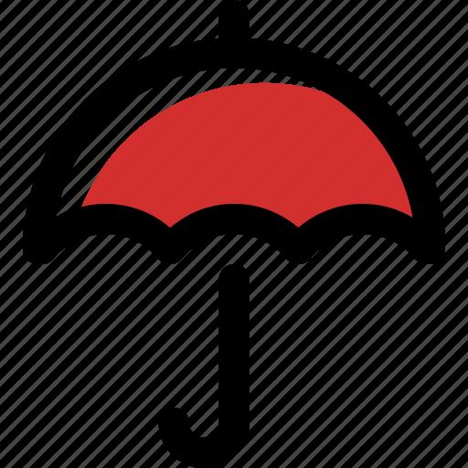 accessory, autumn, rain, umbrella, weather icon