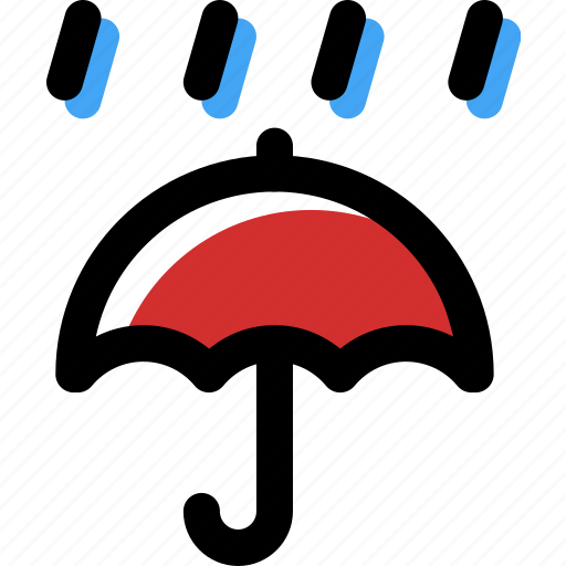 accessory, autumn, rain, umbrella, weather icon