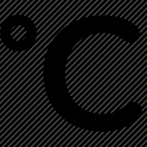 celcius, standart, temperature, wheater icon