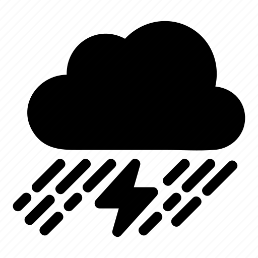 blackcloud, cloud, cloudy, lightening, thunder, weather icon