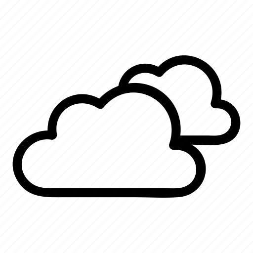 cloud, cloudy, day, doublecloud, weather icon