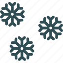 christmassnow, cold, snow, snowflake, winter icon