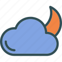 clouds, moon, starsweather, sunset icon