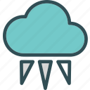 clouds, iceweather, moon, night, stars icon
