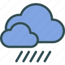 air, clouds, flow, rainweather, storm, sunset, wind icon