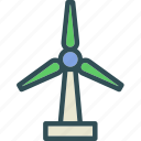 air, flow, mill, storm, wind icon