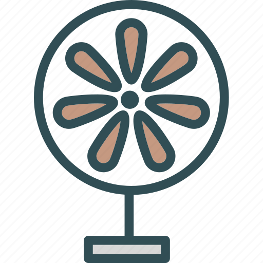 air, cold, fan, heat, house icon