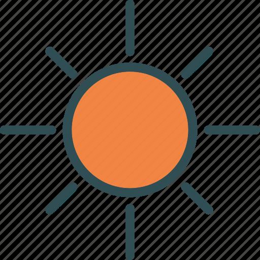 heat, shinesunset, sun, warm icon