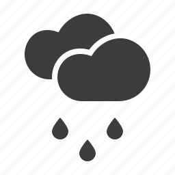 cloud, clouds, drizzle, drops, forecast, rain, rainfall icon