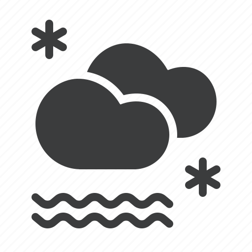 cloud, fog, foggy, forecast, mist, snow, snowfall icon