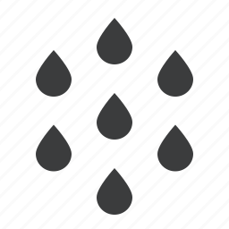drizzle, drop, droplet, drops, rain, water icon