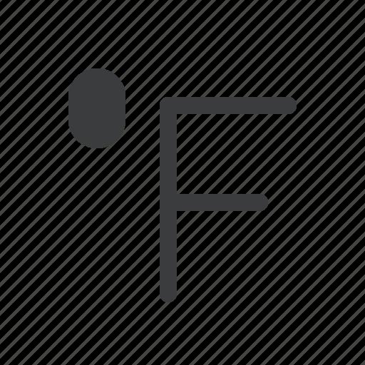 degree, fahrenheit, forecast, measurement, reading, temperature, weather icon