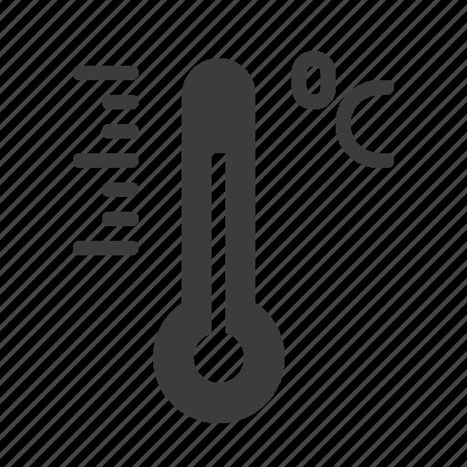 celsius, centigrade, degree, forecast, reading, temperature, thermometer icon