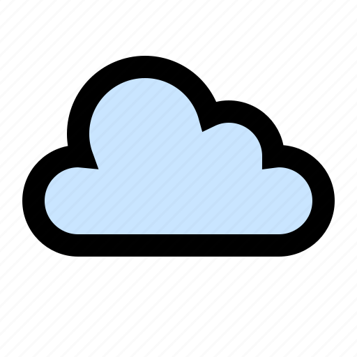 cloud, cloudy, forecast, partly cloudy icon